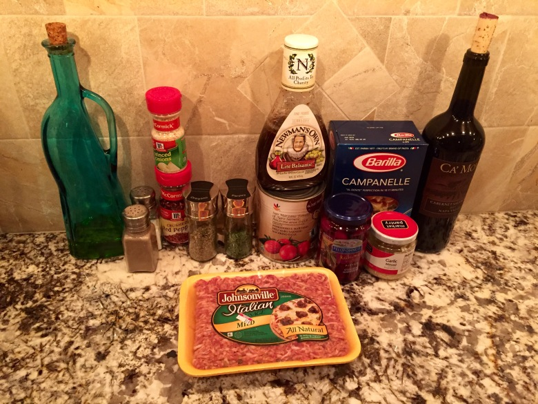 Sausage Pasta Ingredients
