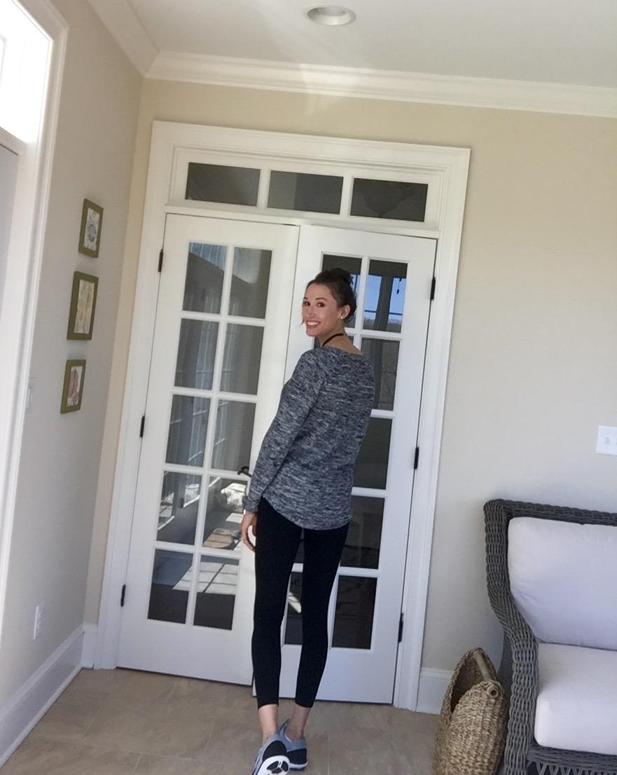 Back of Roxy sweater
