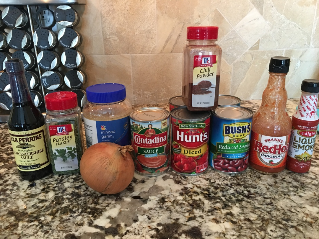 Bacon Chili Ingredients