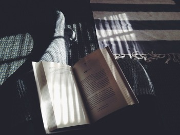reading at night