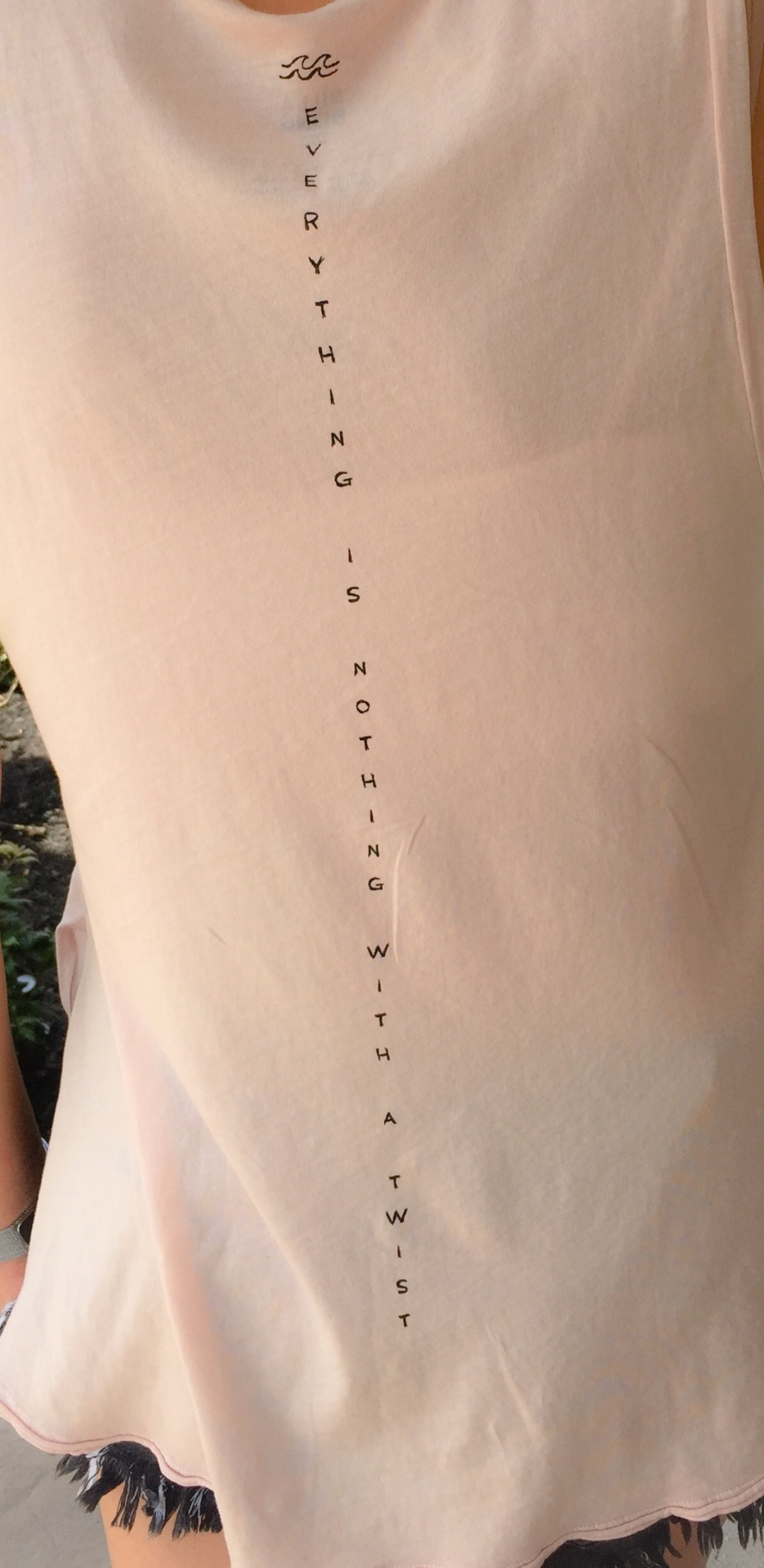 Really thoughtful saying on the back of this Billabong tee.