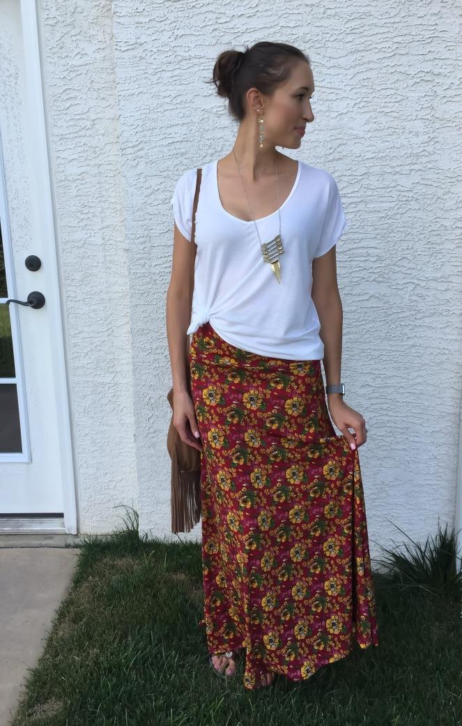 LuLaRoe Magenta Maxi Skirt