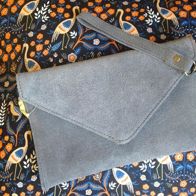 Suede Envelope Clutch- Redemption Market